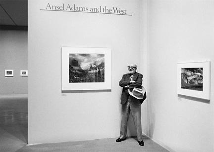 Ansel Adams At The Museum of Modern Art by John Sexton