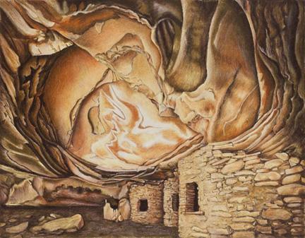 Anasazi Drawing by Ray McSavaney