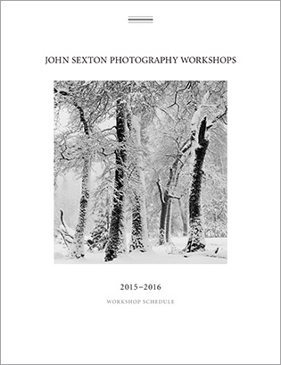 Johnn Sexton Photography Workshops Brochure