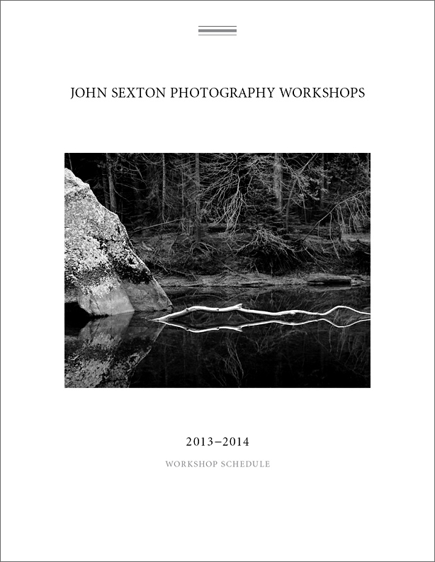2013 Sexton Workshop Brochure