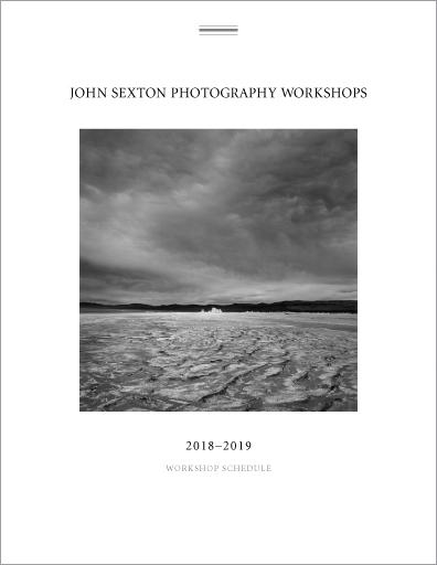 John sexton photography workshops 2018 2019