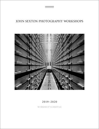John Sexton com - 2019-2020 Workshop Schedule