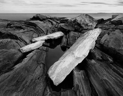 Rock Shoreline, Dusk