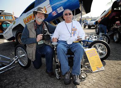 John and Larry Reyes with The Hawaiian Funny Car