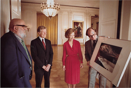 Ansel Adams, Bill Turnage, Carters, White House 1979